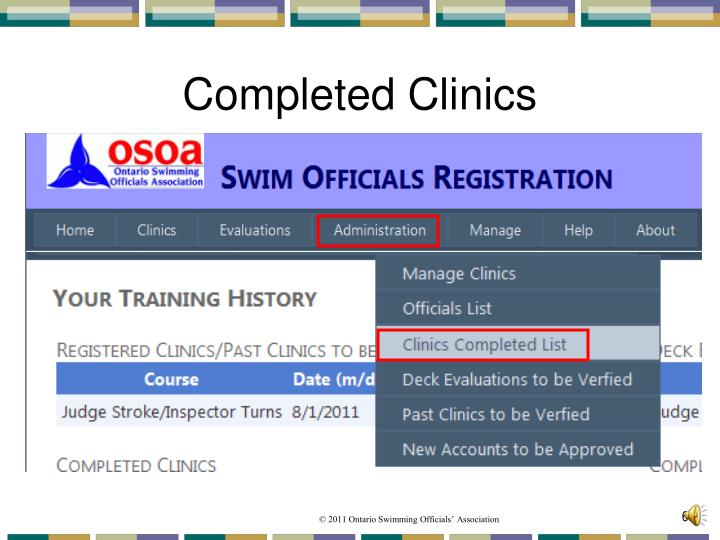 Completed Clinics