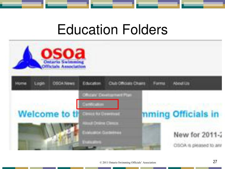 Education Folders