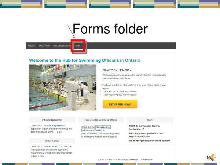 Forms folder