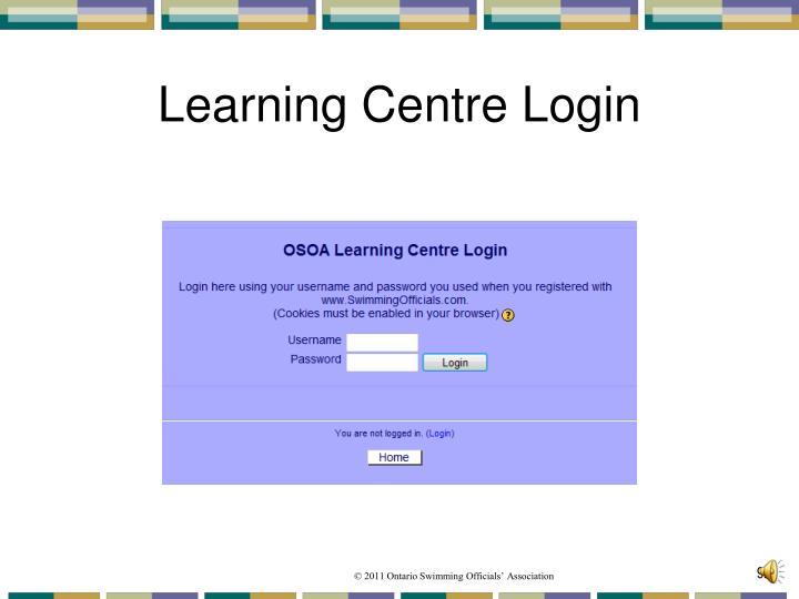 Learning Centre Login