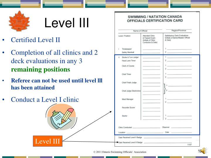 Level III