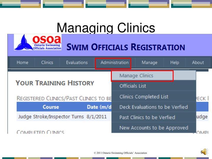 Managing Clinics