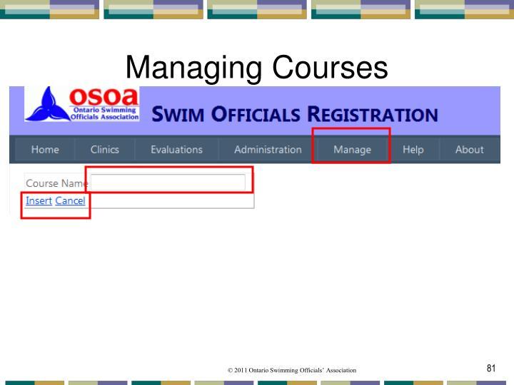 Managing Courses
