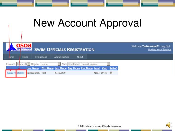 New Account Approval