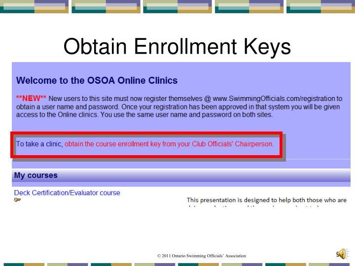 Obtain Enrollment Keys