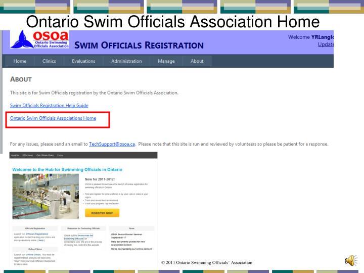Ontario Swim Officials Association Home