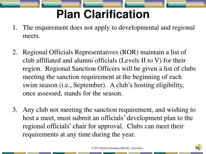 Plan Clarification