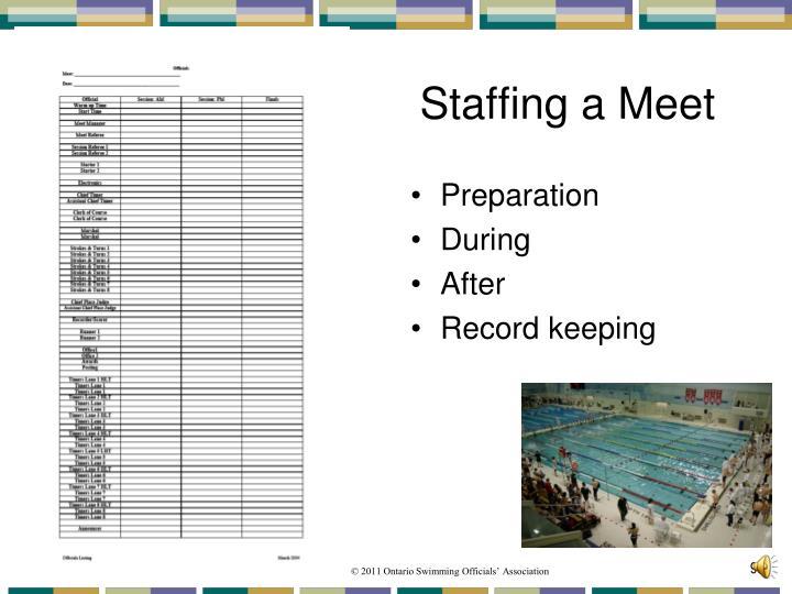 Staffing a Meet