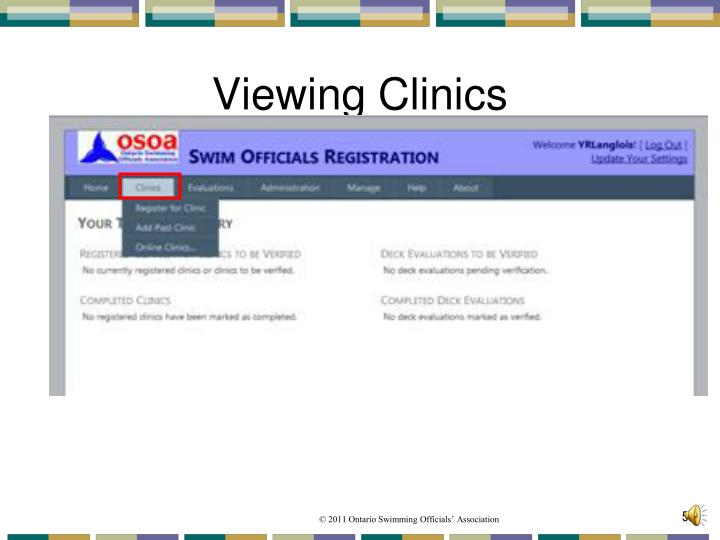 Viewing Clinics
