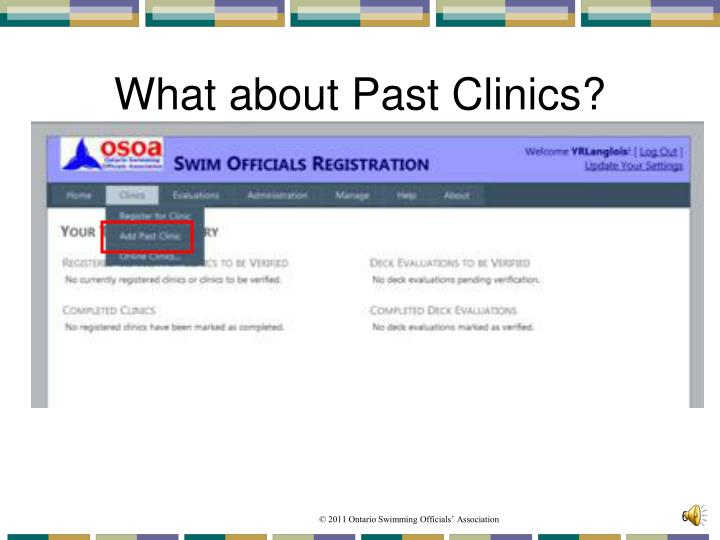 What about Past Clinics?