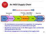 an ngo supply chain