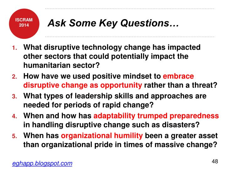 Ask Some Key Questions…