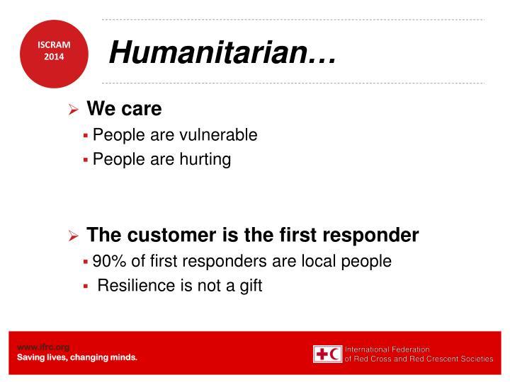 Humanitarian…
