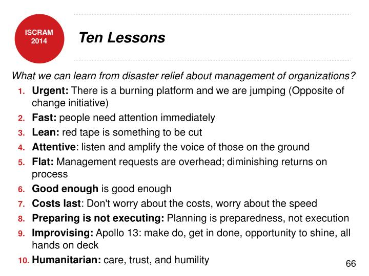 Ten Lessons