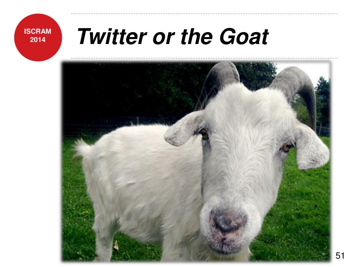 Twitter or the Goat