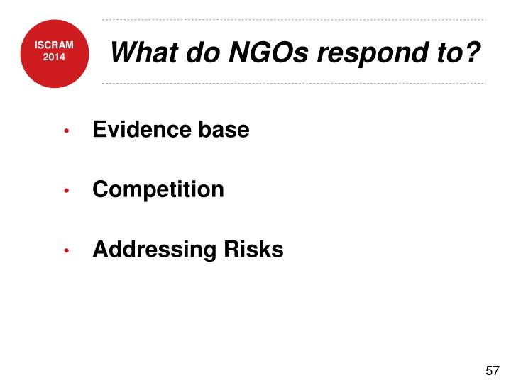 What do NGOs respond to?