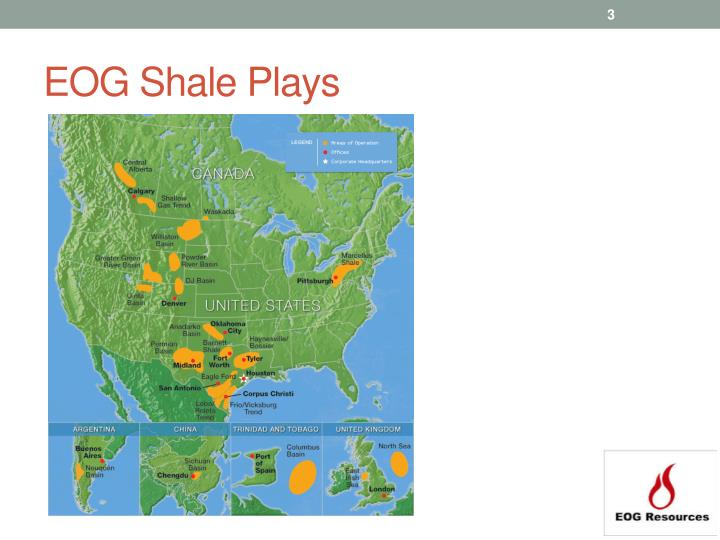 EOG Shale Plays