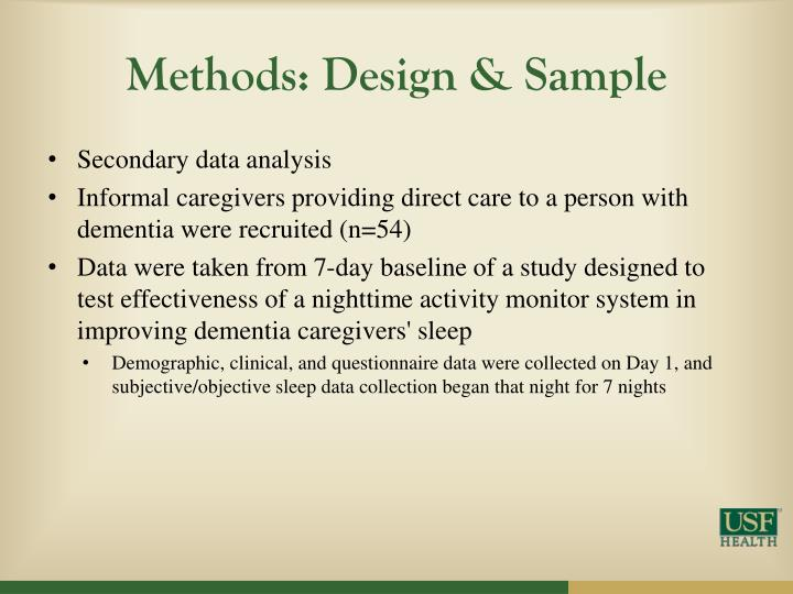 Methods: Design & Sample
