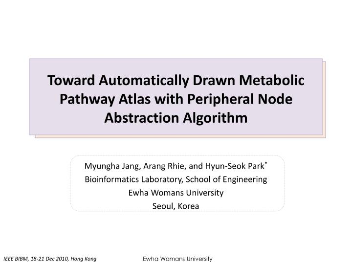 Toward automatically drawn metabolic pathway atlas with peripheral node abstraction algorithm