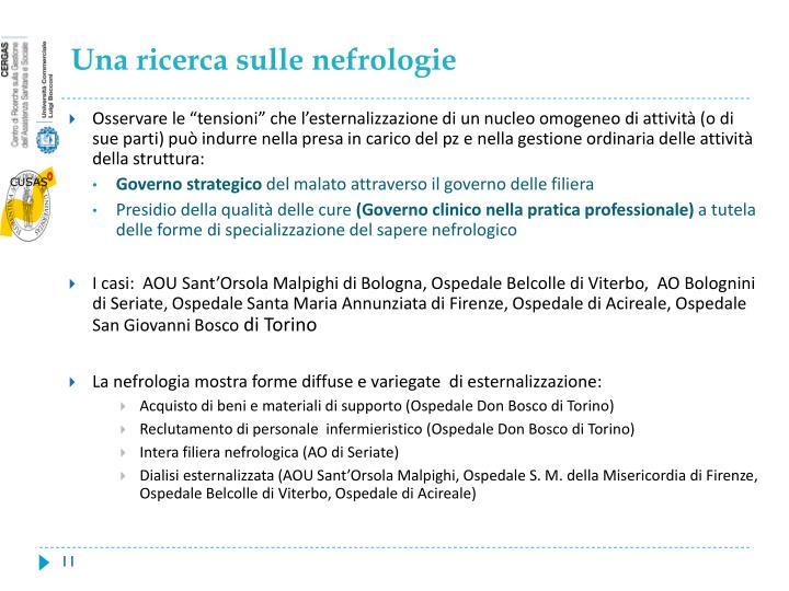 Una ricerca sulle nefrologie