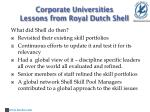 corporate universities lessons from royal dutch shell3