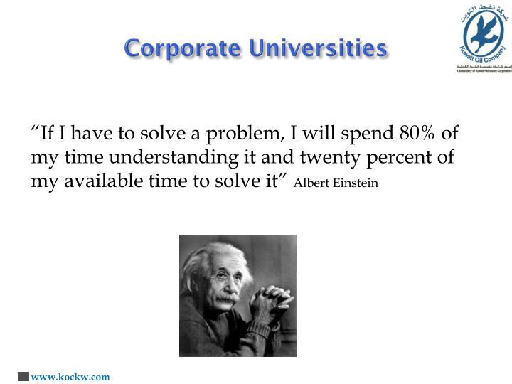 Corporate Universities
