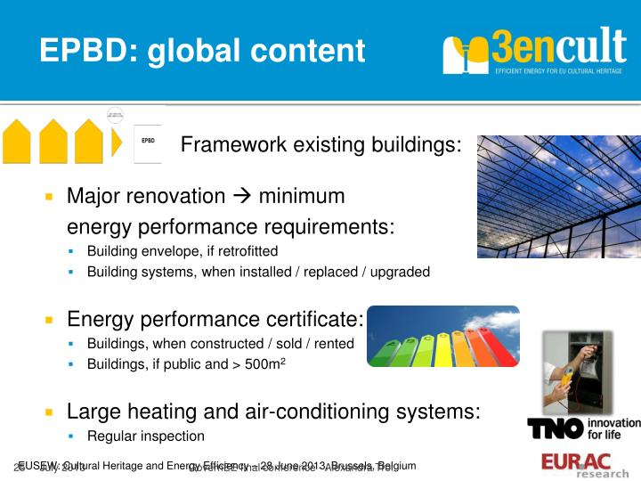 EPBD: global content