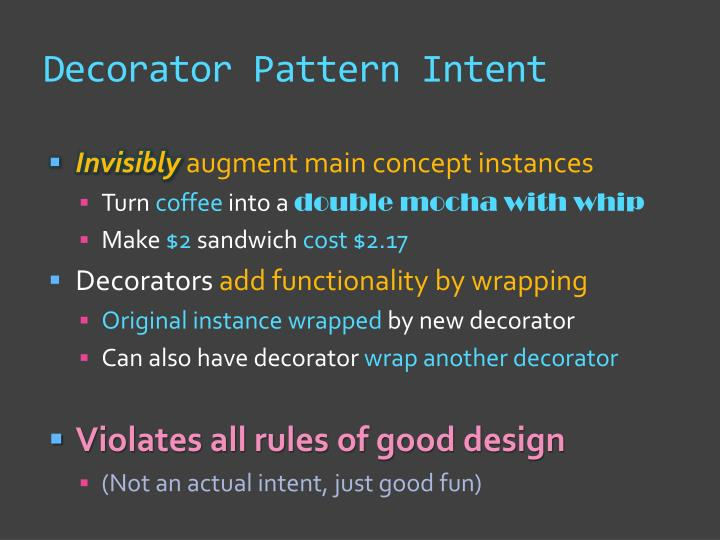 Decorator pattern intent1