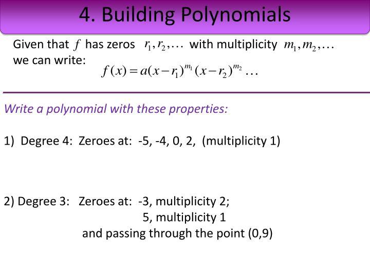 4. Building Polynomials