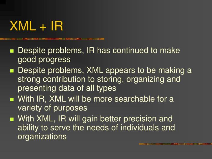 XML + IR