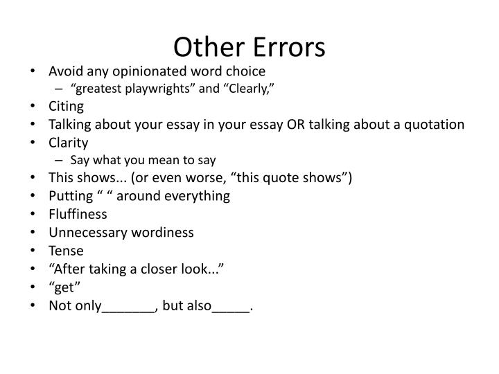 Other Errors