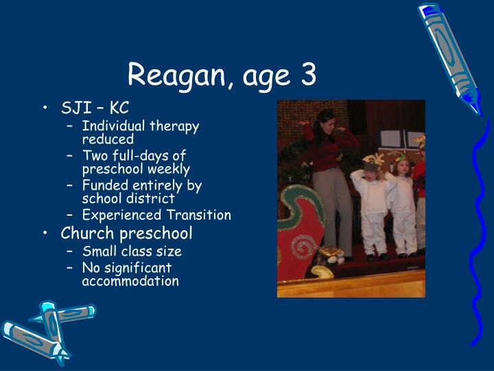 Reagan, age 3