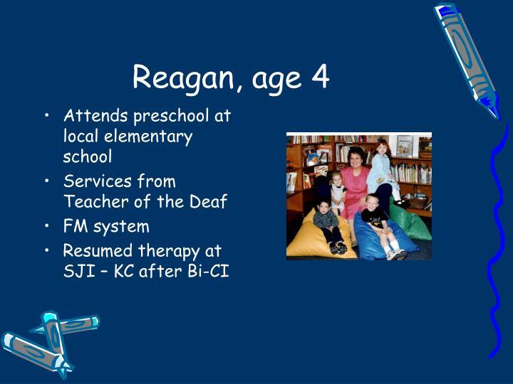 Reagan, age 4