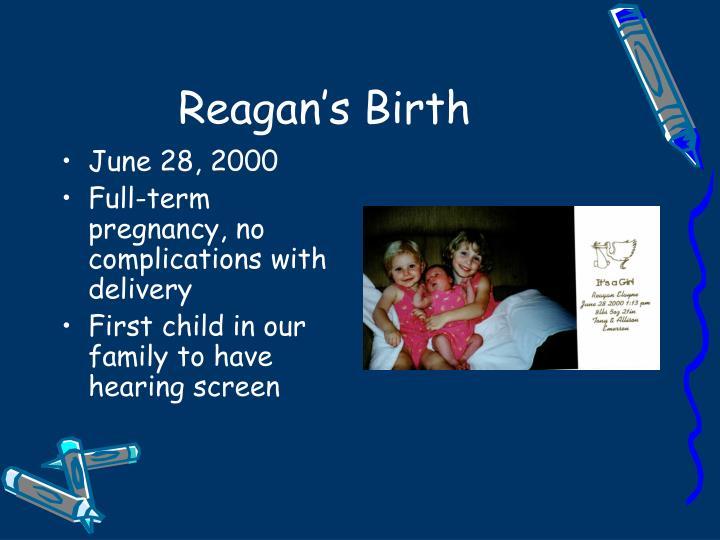 Reagan's Birth