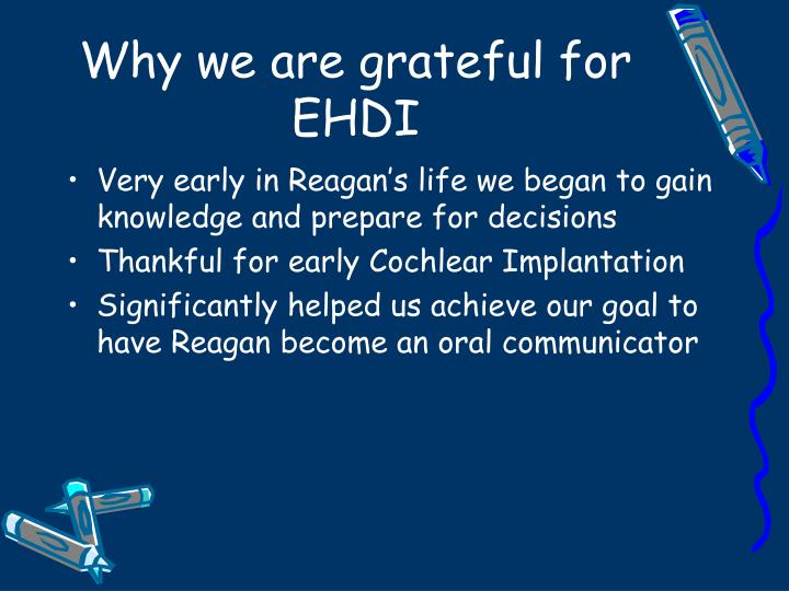 Why we are grateful for EHDI