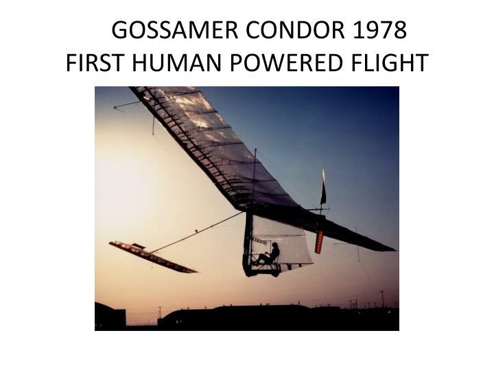 GOSSAMER CONDOR 1978