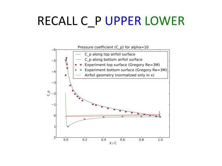 RECALL C_P