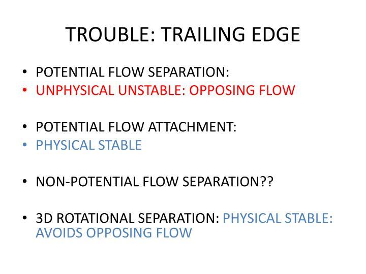 TROUBLE: TRAILING EDGE