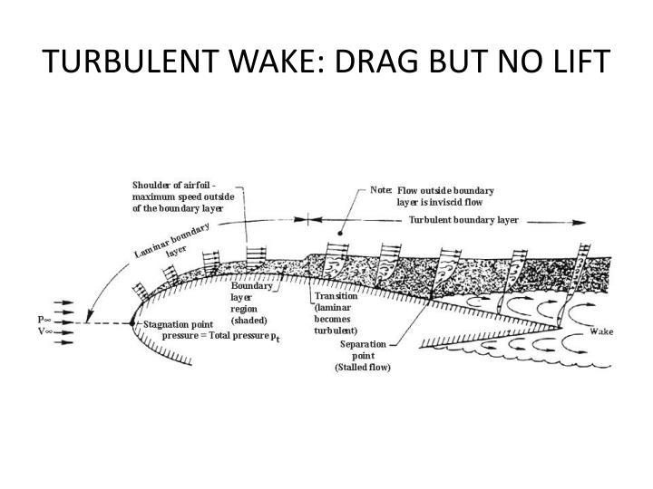 TURBULENT WAKE: DRAG BUT NO LIFT