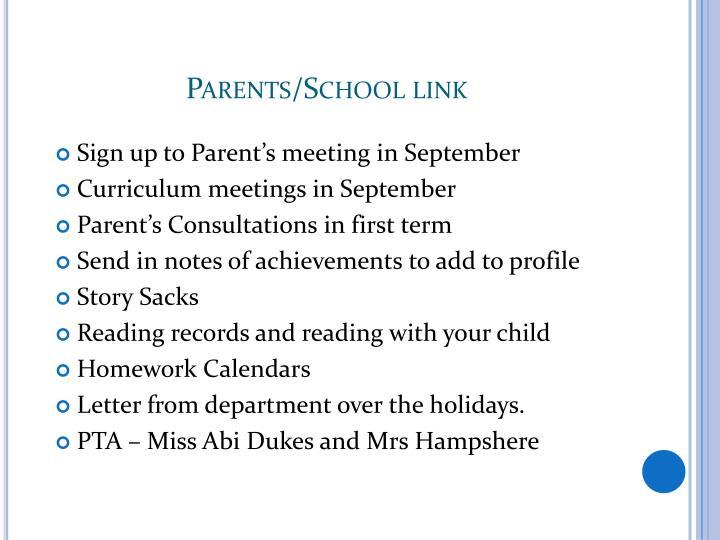 Parents/School link