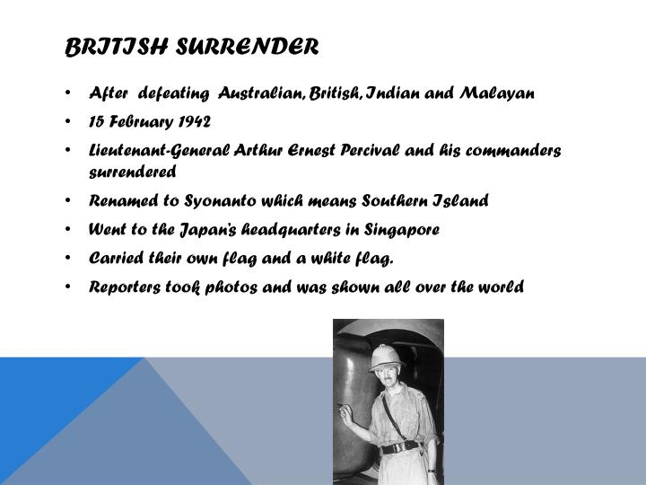 British Surrender