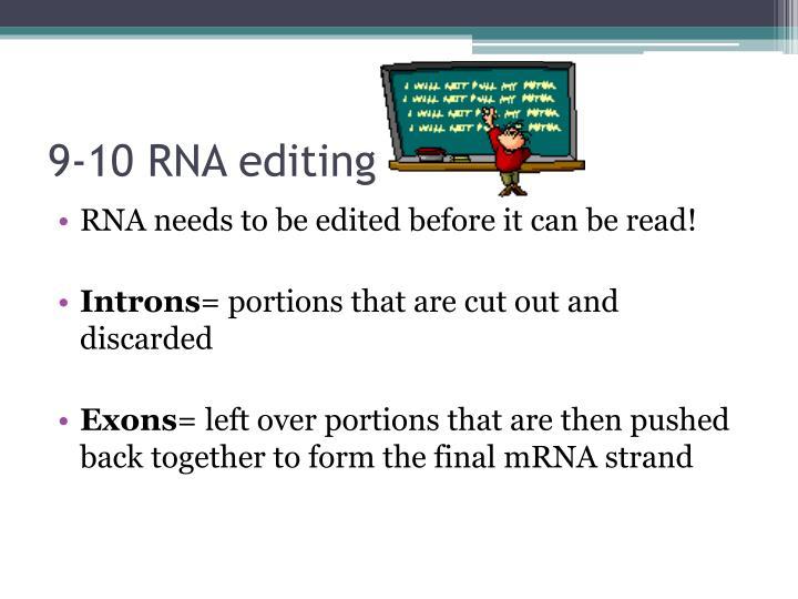 9-10 RNA editing