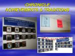chronicle achievements traditions