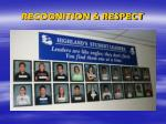 recognition respect