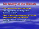 the reality of our schools