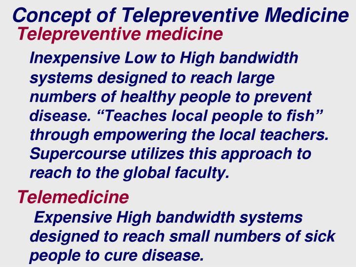 Concept of Telepreventive Medicine
