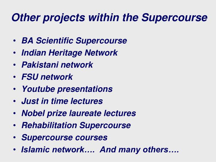 Other projects within the Supercourse