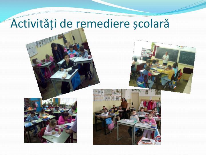 Activități de remediere școlară