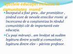efectele educa iei incluzive n comunitatea rrom1