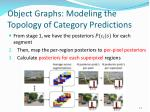 object graphs modeling the topology of category predictions1
